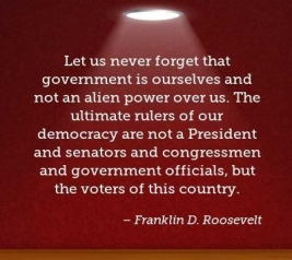 Let us never forget FDR quote